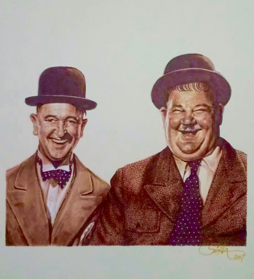 Laurel & Hardy by Tonio